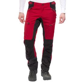 Lundhags Makke Spodnie długie Mężczyźni czerwony/czarny